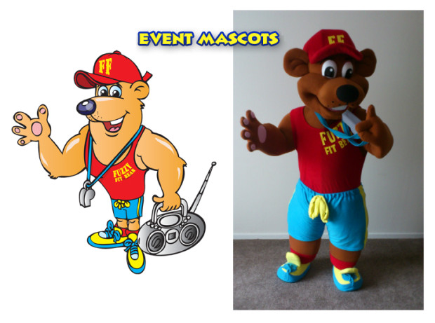 An example of a mascot request and the actual outcome.